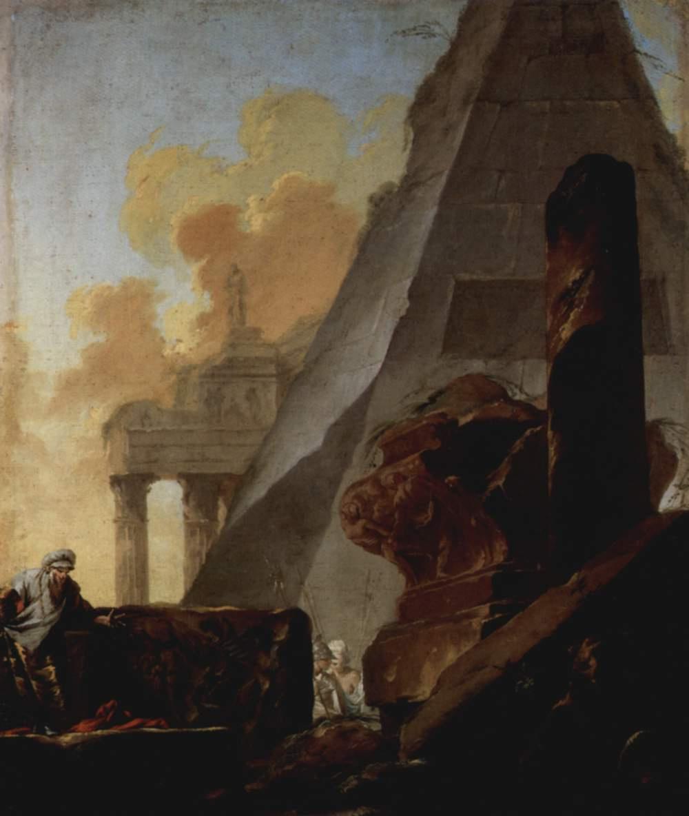 Жан Барбольт. Руины и пирамида