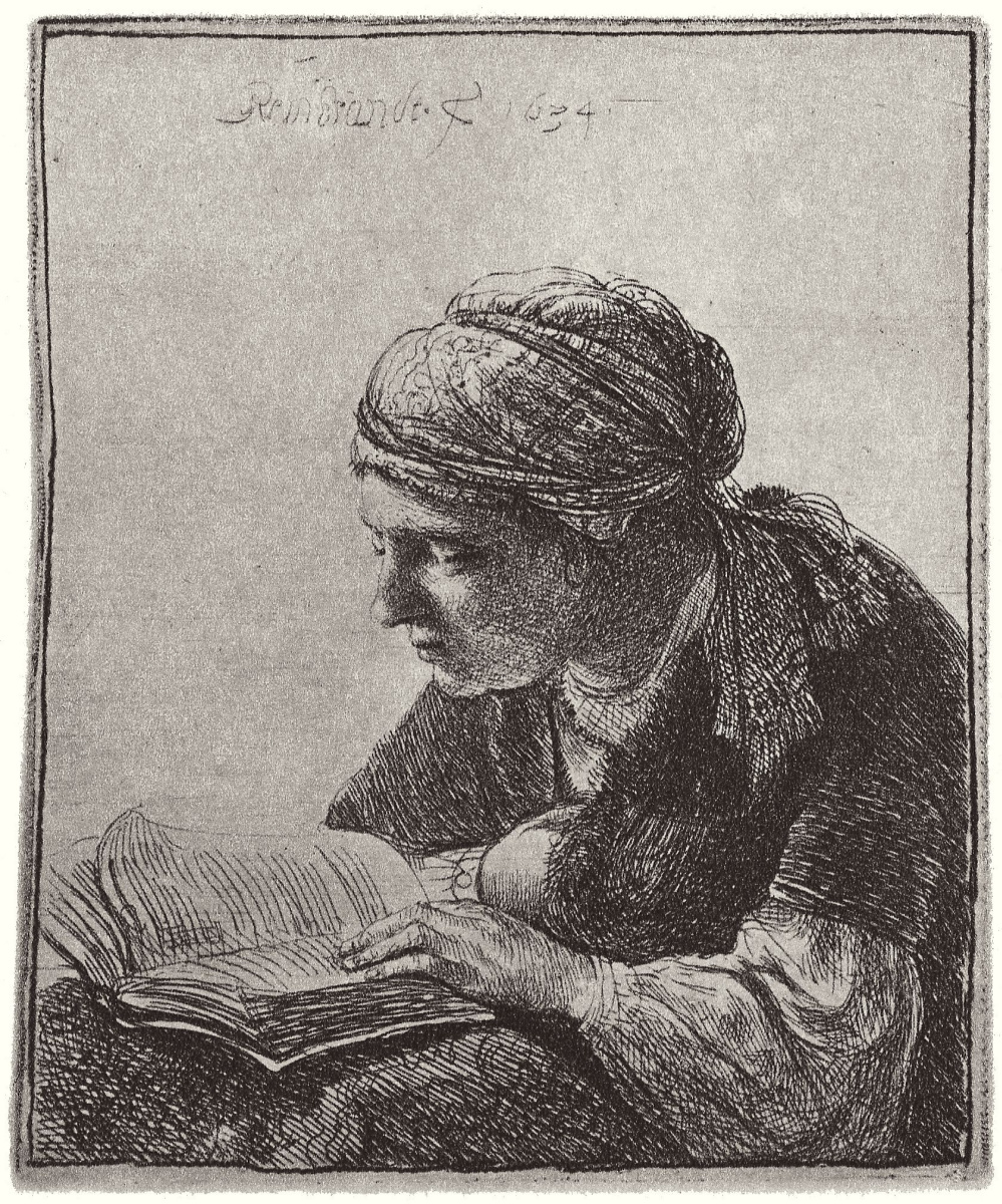 Rembrandt Harmenszoon van Rijn. Reading girl
