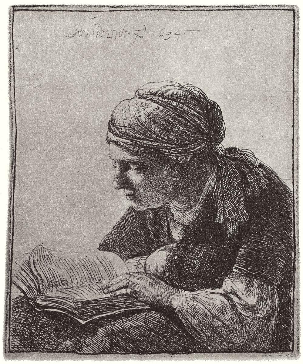 Рембрандт Харменс ван Рейн. Читающая девушка