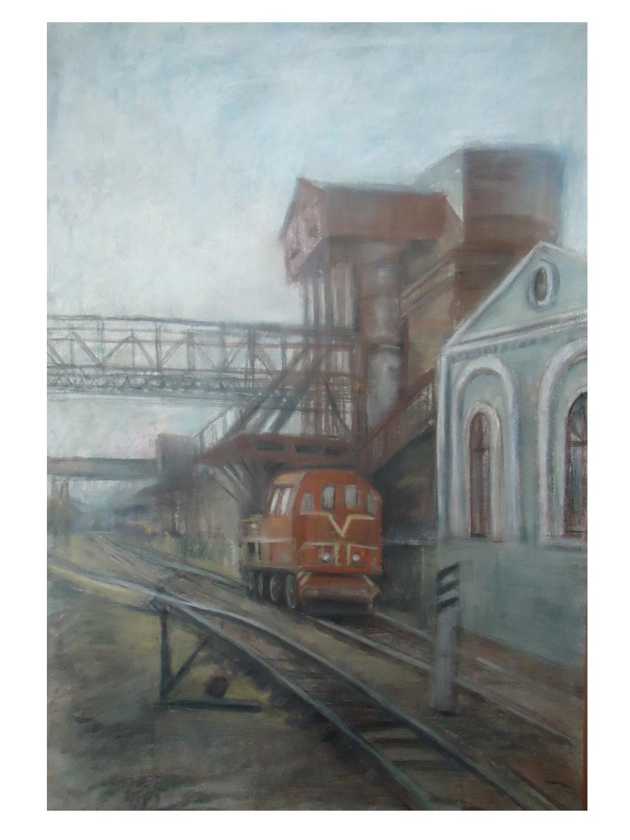 Sofia Rychanova. Old locomotive
