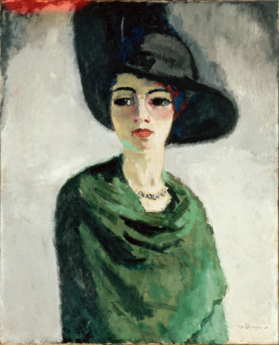 Кес Ван Донген. Женщина в черной шляпе