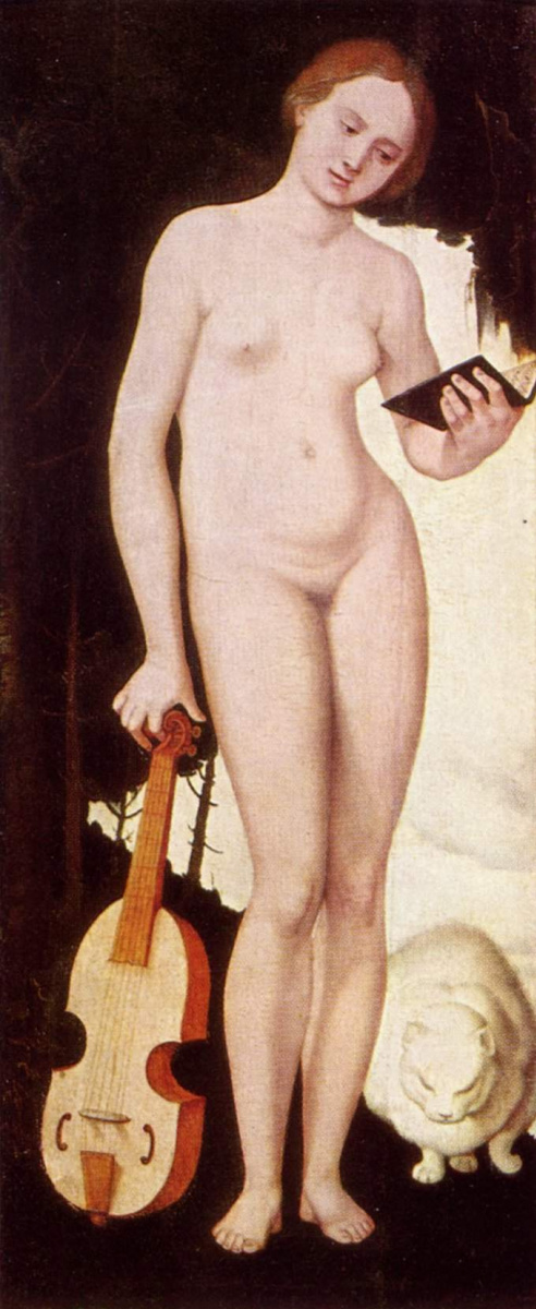 Ханс Бальдунг. Женщина с кошкой