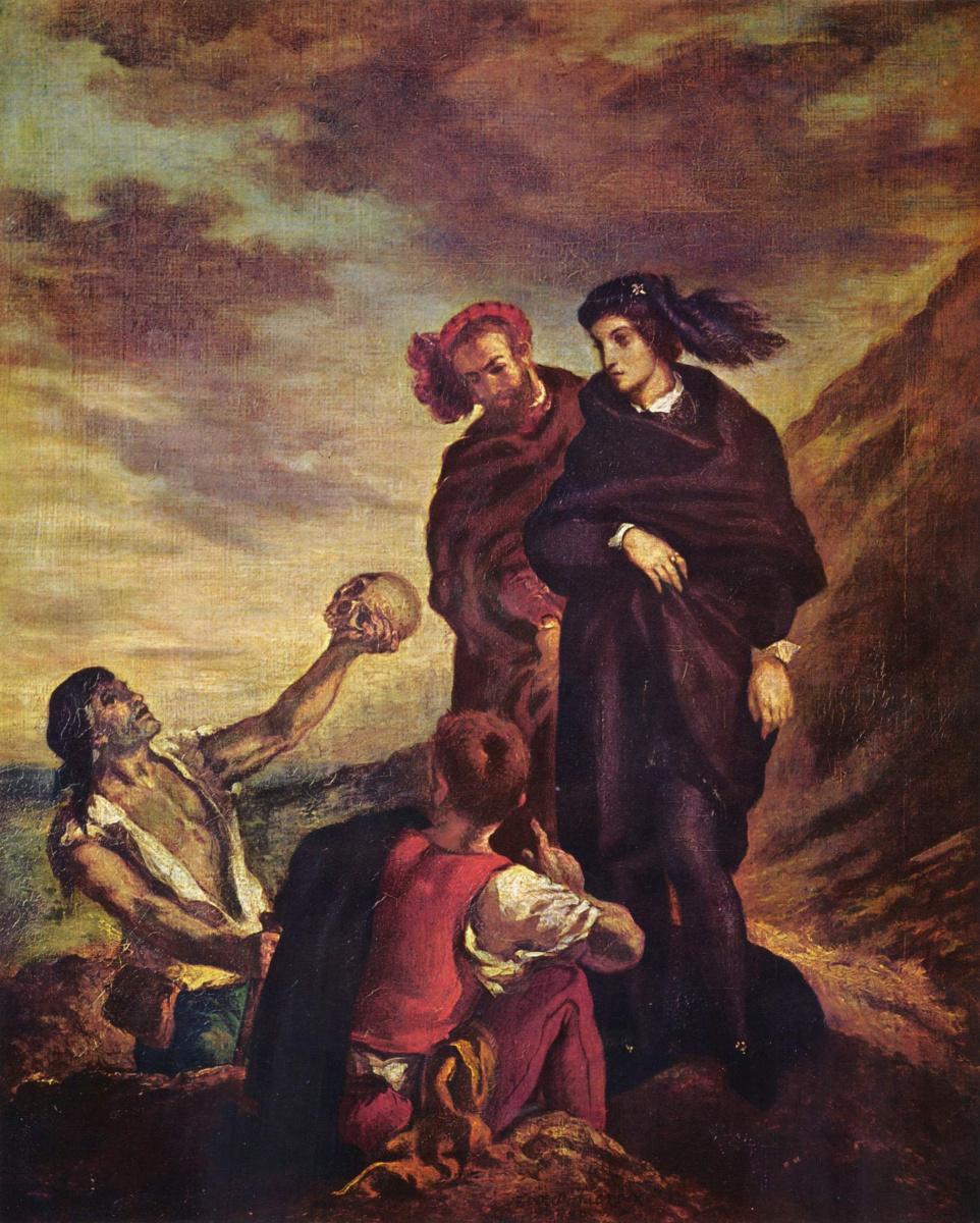 Эжен Делакруа. Гамлет и Горацио на кладбище