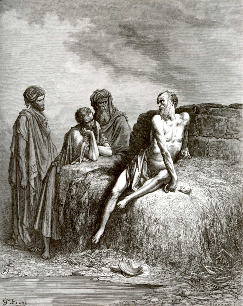Поль Гюстав Доре. Иллюстрация к Библии: Иов и его друзья