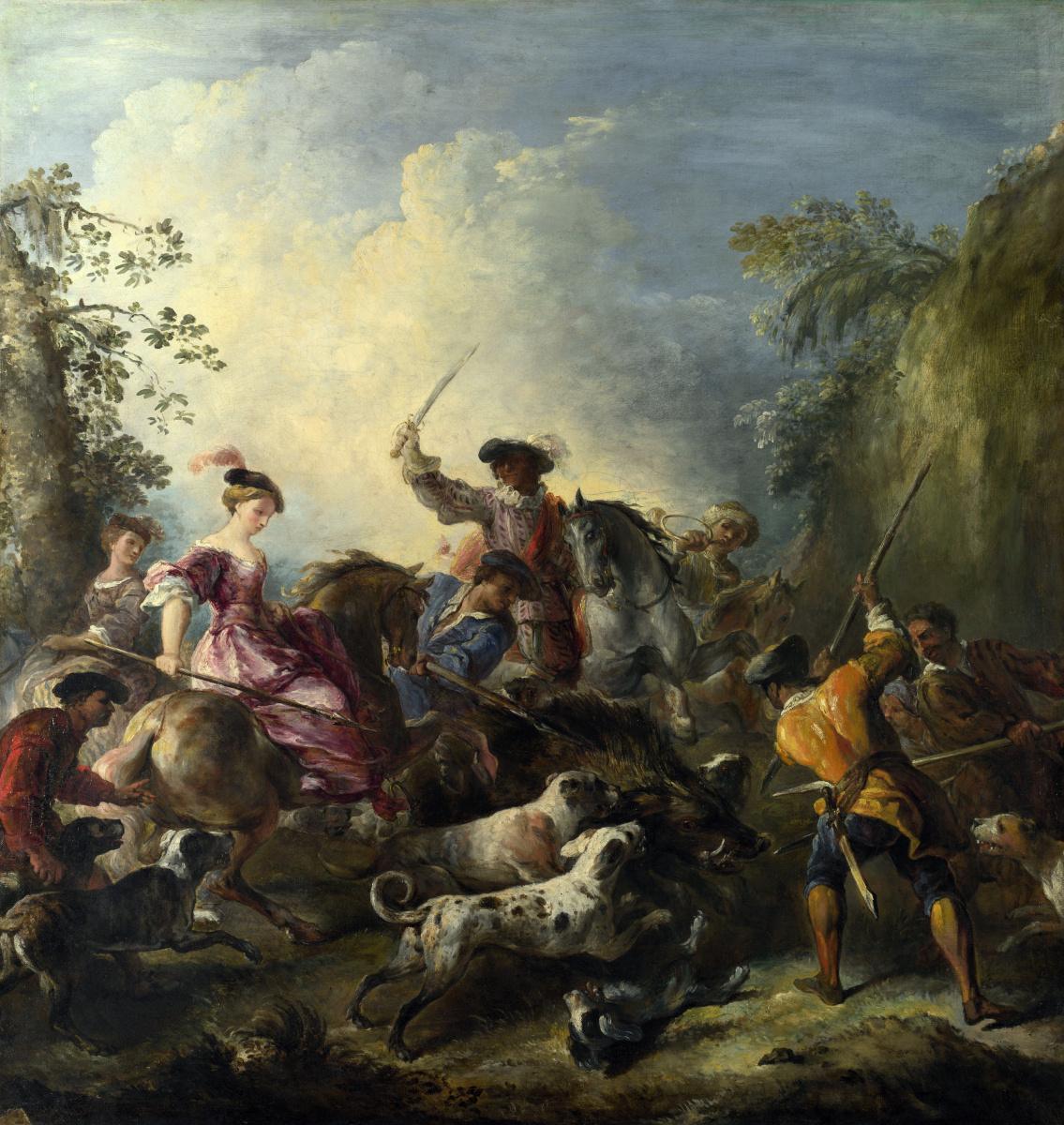 Иосиф Паппокел. Охота на кабана