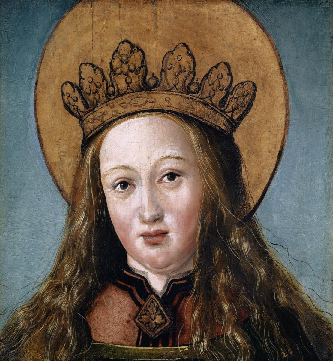 Ганс Гольбейн Младший. Голова одной женской святой