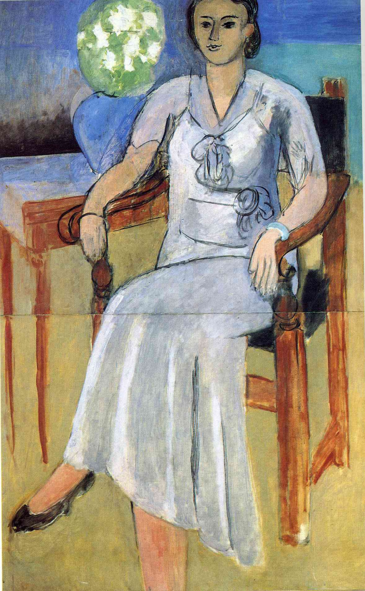 Анри Матисс. Женщина в белом платье