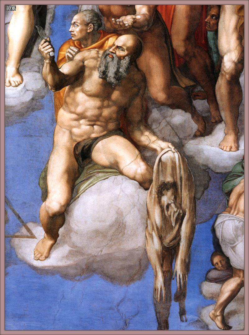 Микеланджело Буонарроти. Страшный суд. Св. Варфоломей