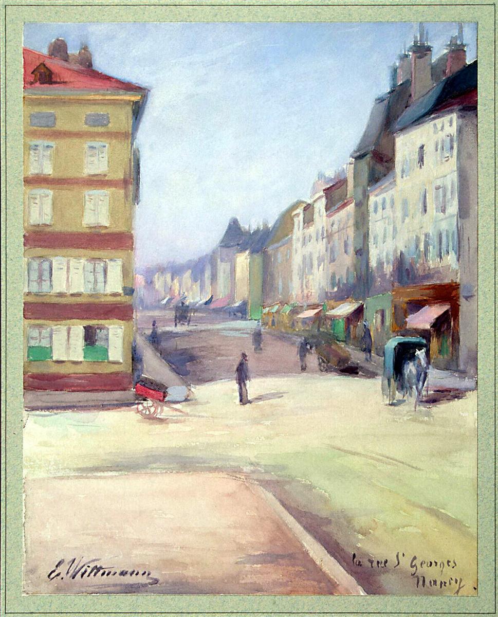 Е. Витман. Вид улицы Сен-Жорж в Нанси