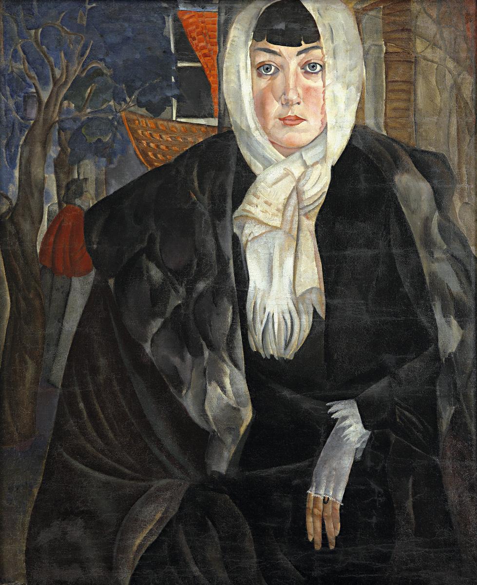 Boris Dmitrievich Grigoryev. Portrait of a Woman (Dushka)