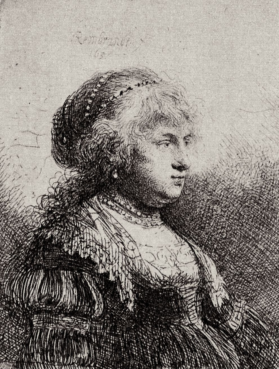 Рембрандт Харменс ван Рейн. Портрет Саскии в нарядном платье