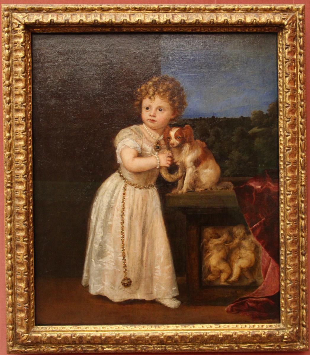 Portrait of Clarissa Strozzi, daughter of Roberto Strozzi. Fragment