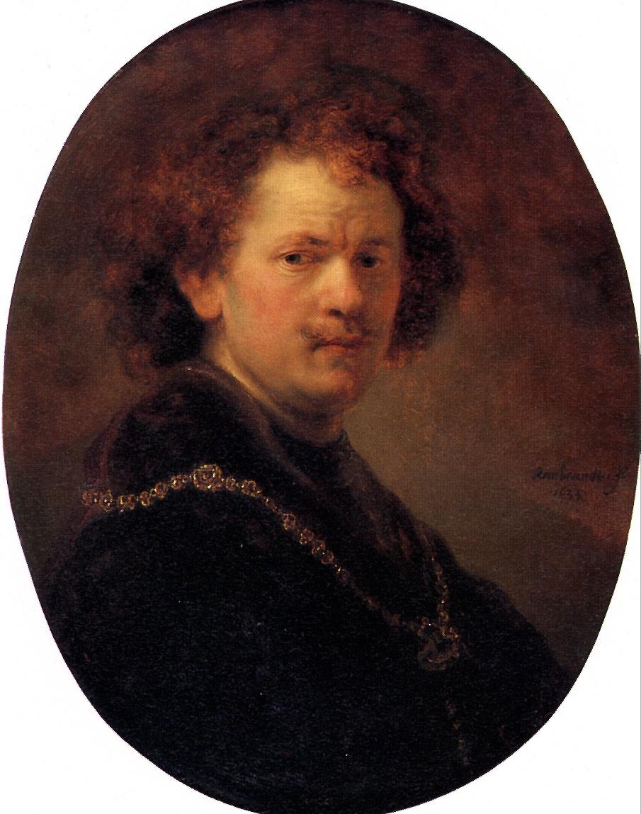 Рембрандт Ван Рейн. Автопортрет без шляпы