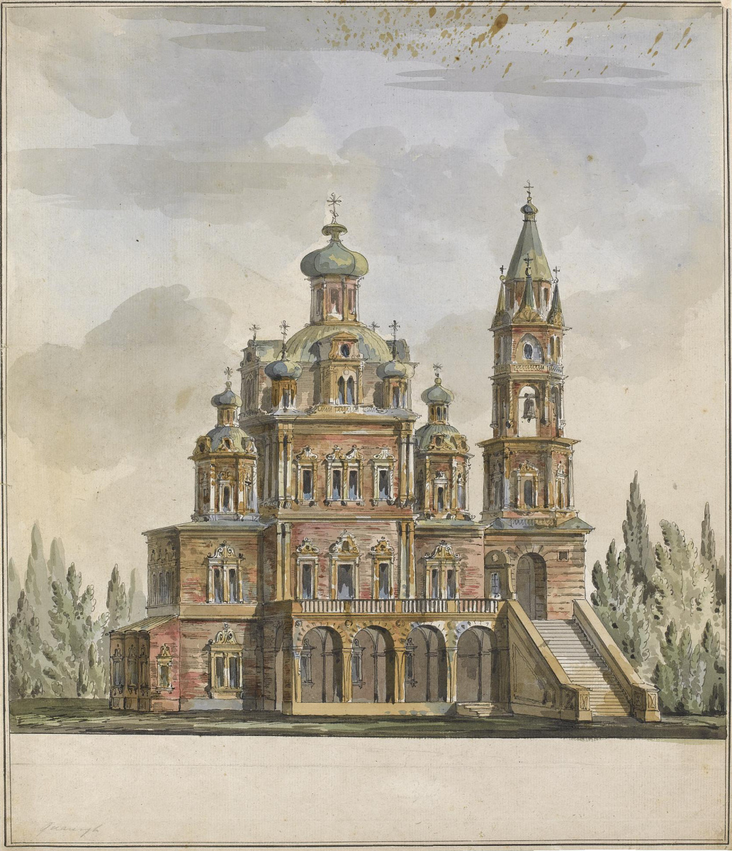 Giacomo Quarenghi. The project of the Church of the Assumption on Pokrovka, Moscow