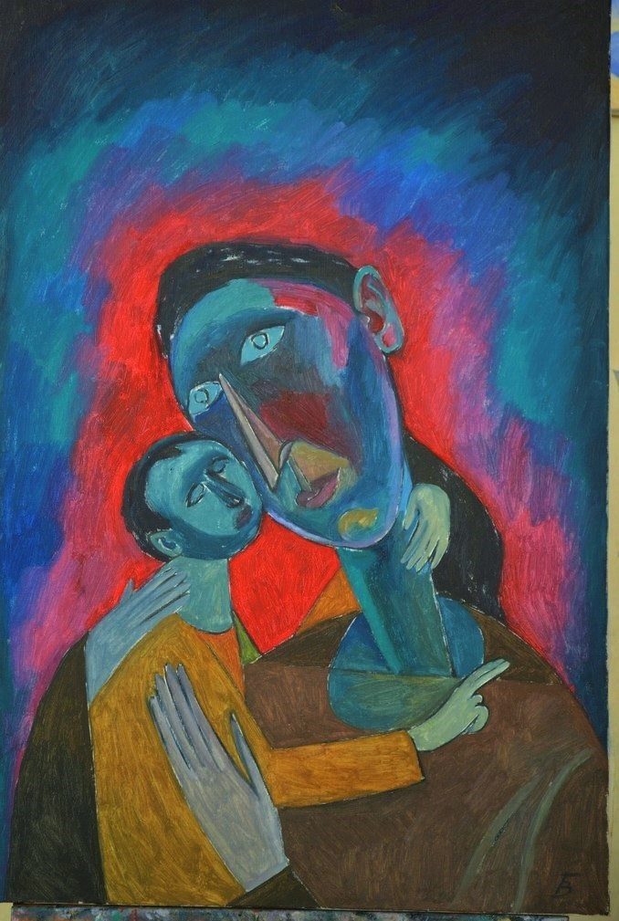 Victor Bezumov. The Madonna and child