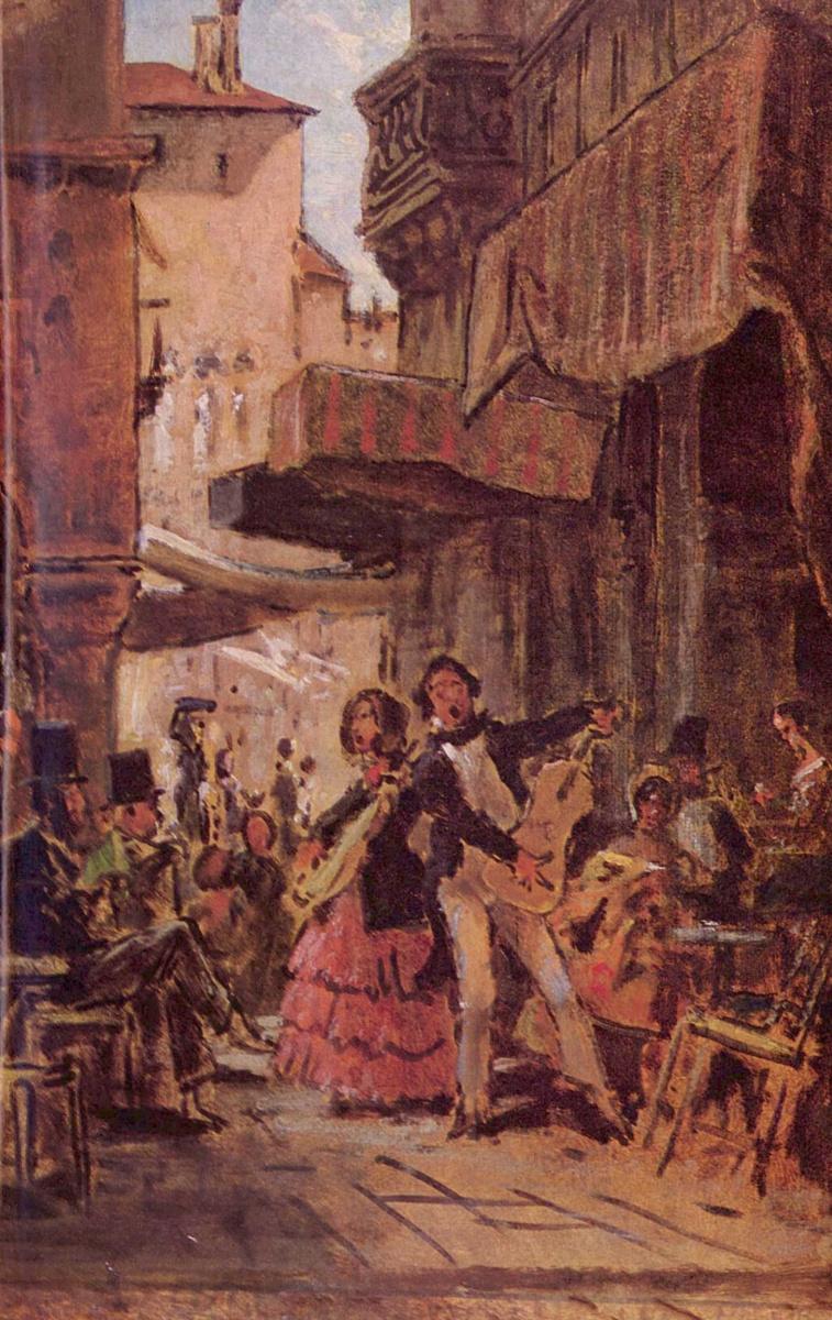 Карл Шпицвег. Итальянский уличный певец
