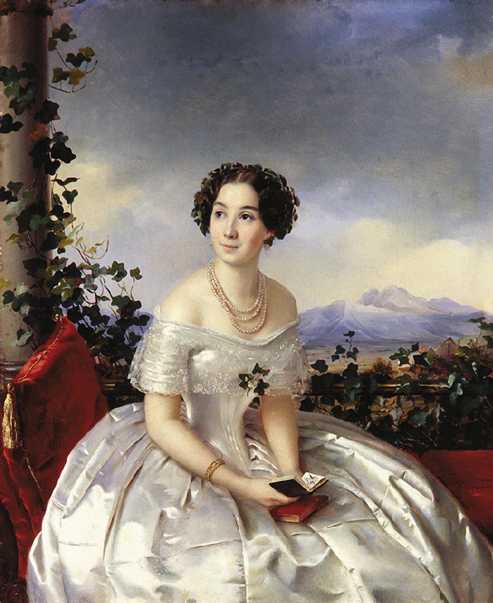 Сергей Константинович Зарянко. Портрет неизвестной. 1840-е