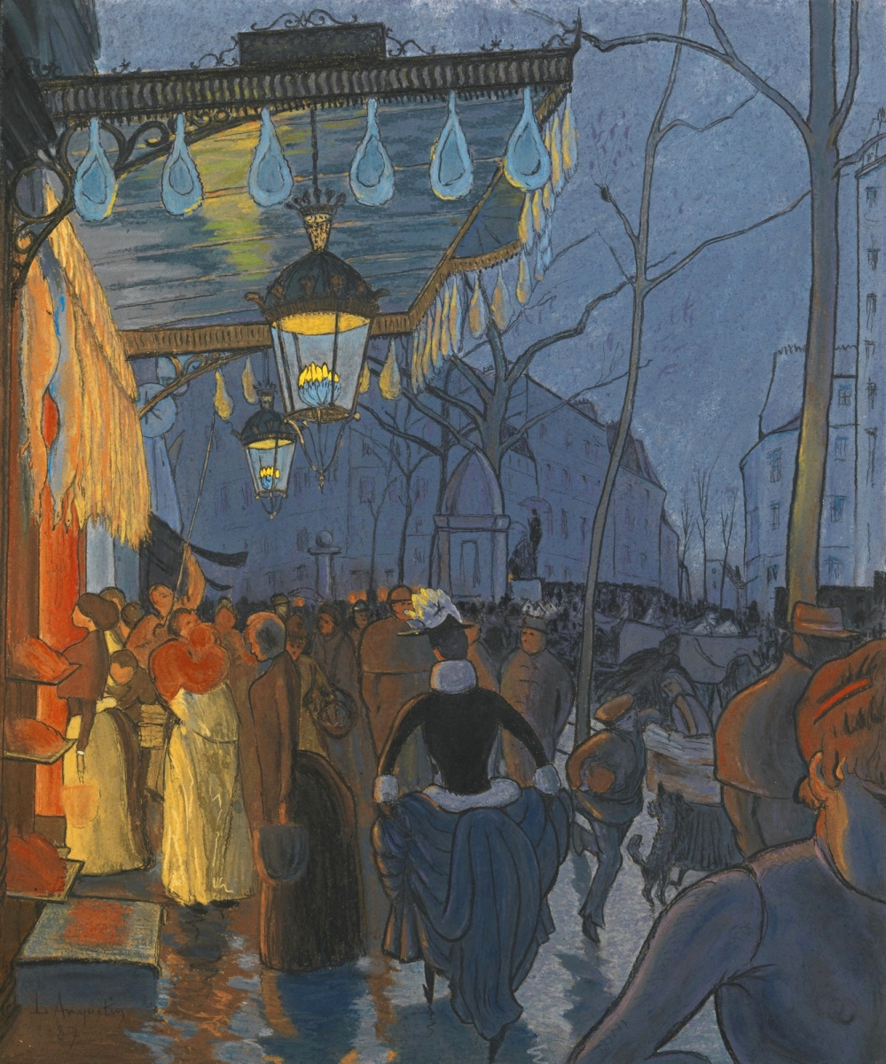 Луи Анкетен. Авеню Клиши, ночью, пять часов. 1887