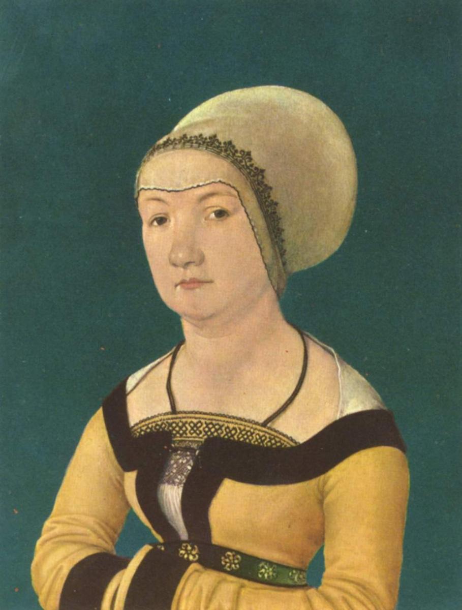 Ганс  Старший Хольбейн. Портрет 34-летней женщины