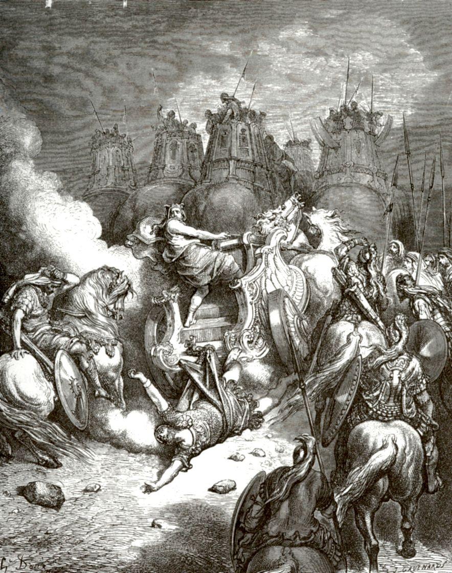 Поль Гюстав Доре. Падение Антиоха с колесницы