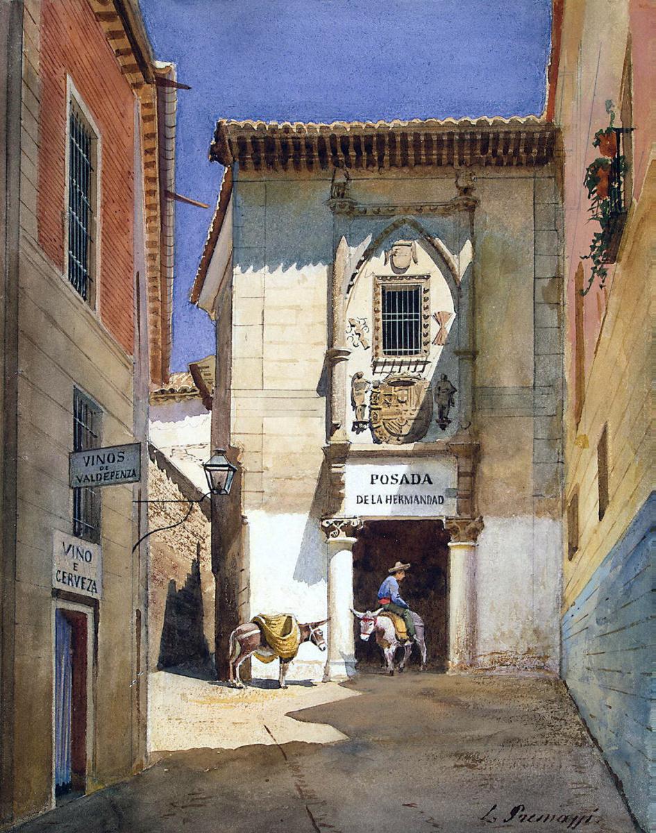Луиджи Премацци. Уголок испанского города