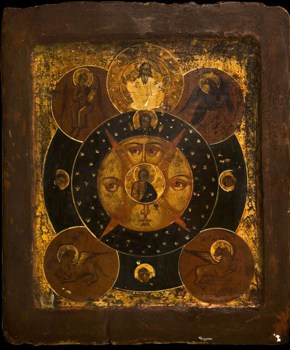 "Unknown artist. Icon ""all Seeing eye"""