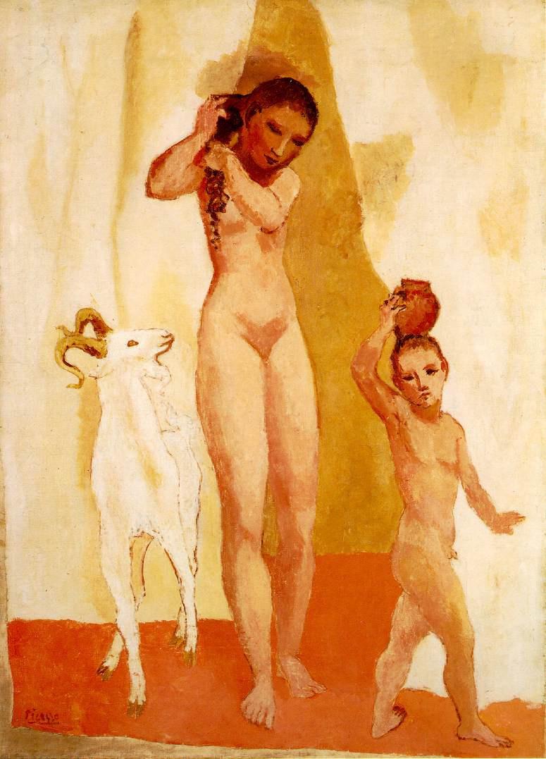 Пабло Пикассо. Девочка с козленком