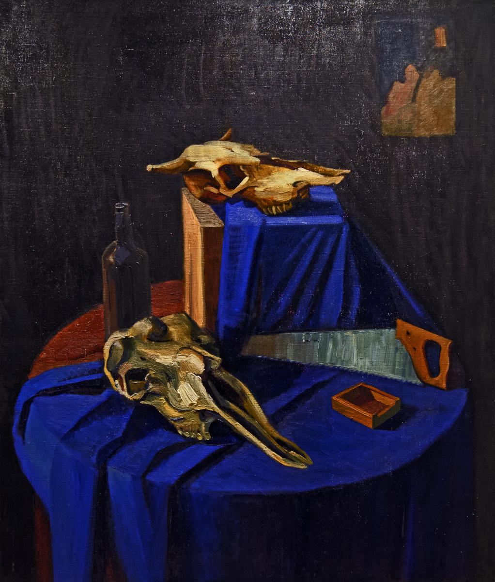 Anastasia Dashevskaya. Still life with skulls
