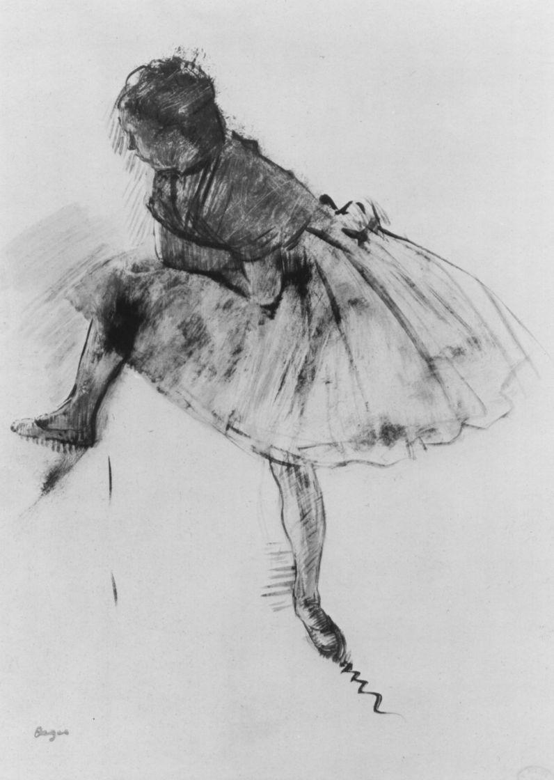 Эдгар Дега. Балерина с выставленной правой ногой