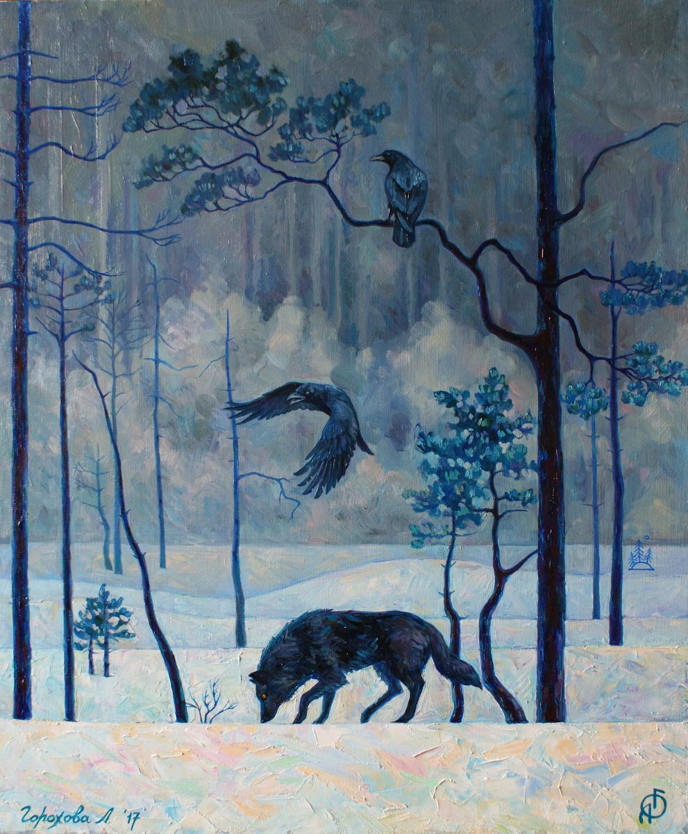 Liana Gorokhova. Winter landscape