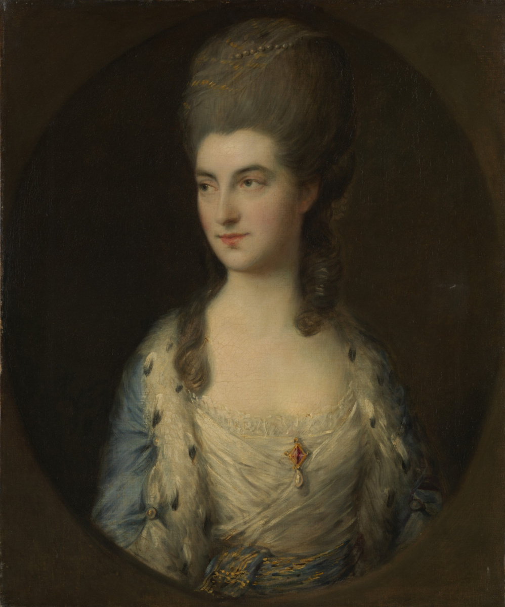 Thomas Gainsborough. Portrait of a young woman, possibly Mrs. Sparrow