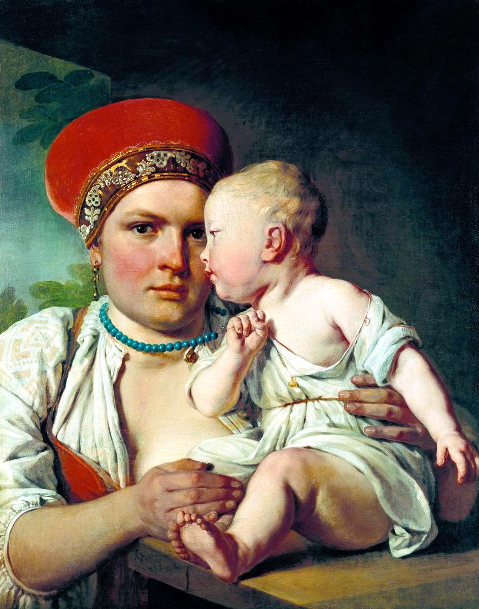 Алексей Гаврилович Венецианов. Кормилица с ребенком