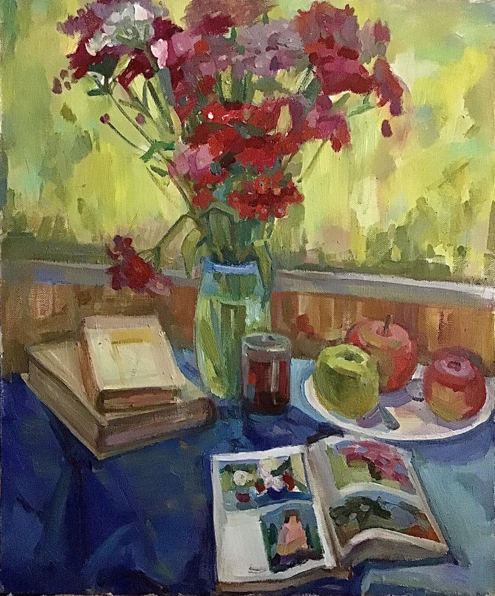 Anastasia Kachaeva. Still Life with Turkish Carnation