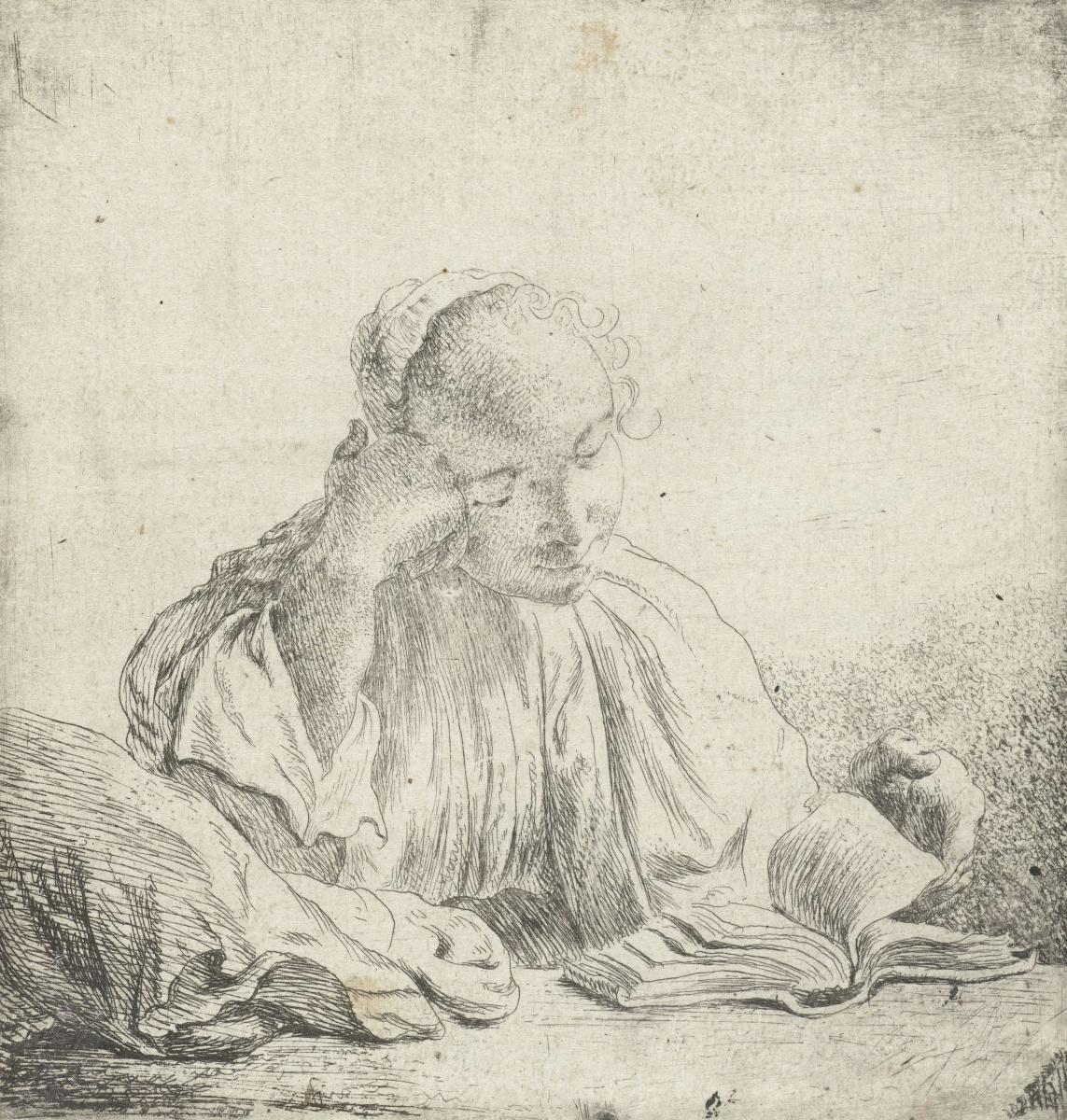 Jan Lievens. Reading girl