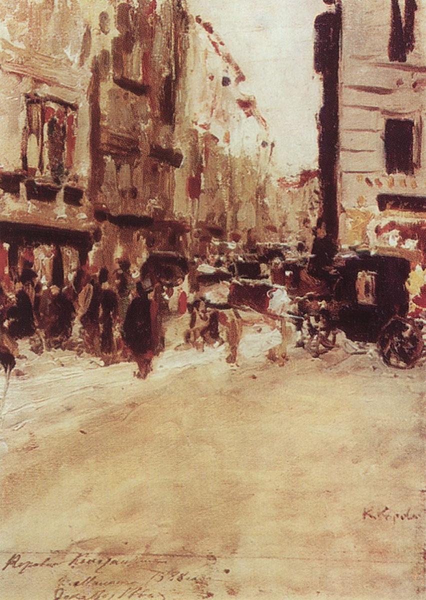Константин Алексеевич Коровин. Милан