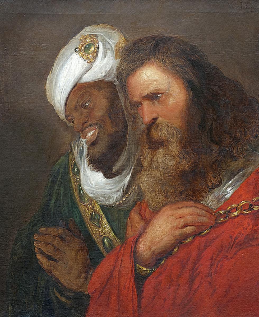 Ян Ливенс. Король Гай из Лузиньяна и король Саладин (по Рубенсу)