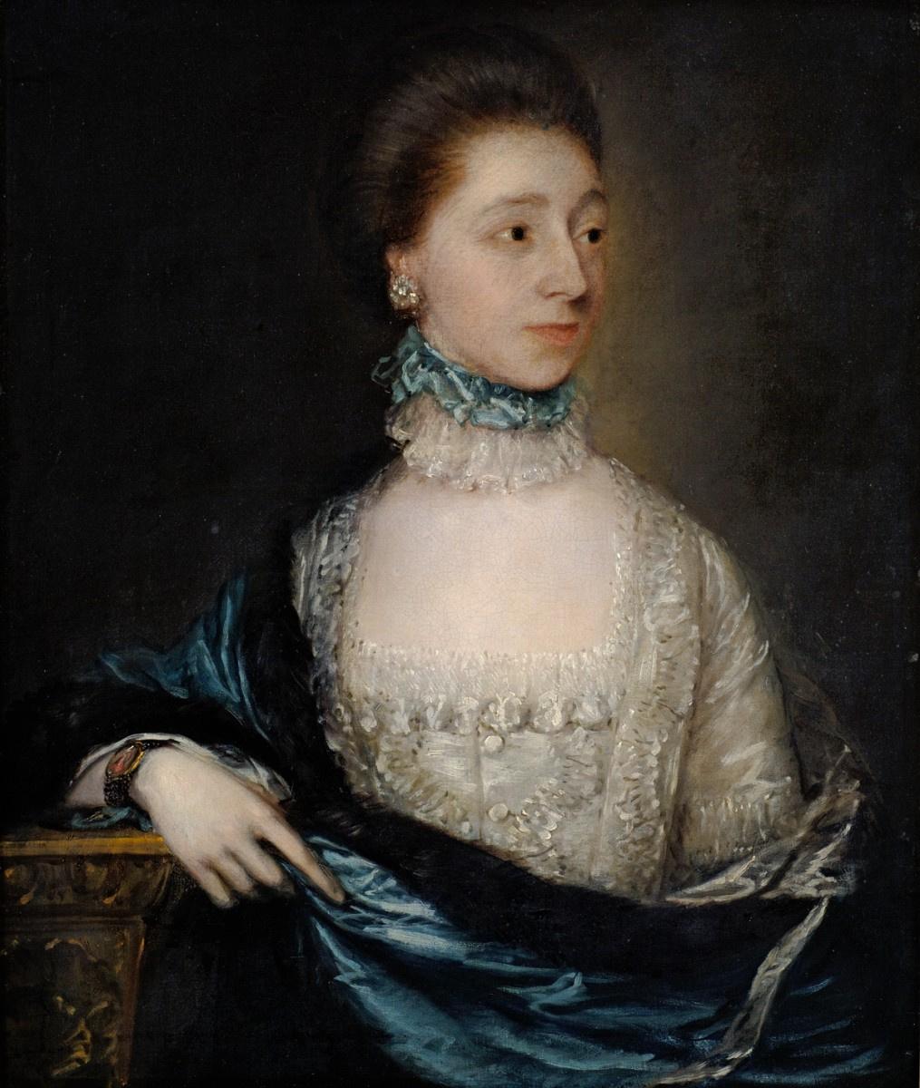 Томас Гейнсборо. Портрет неизвестной женщины в синей мантии