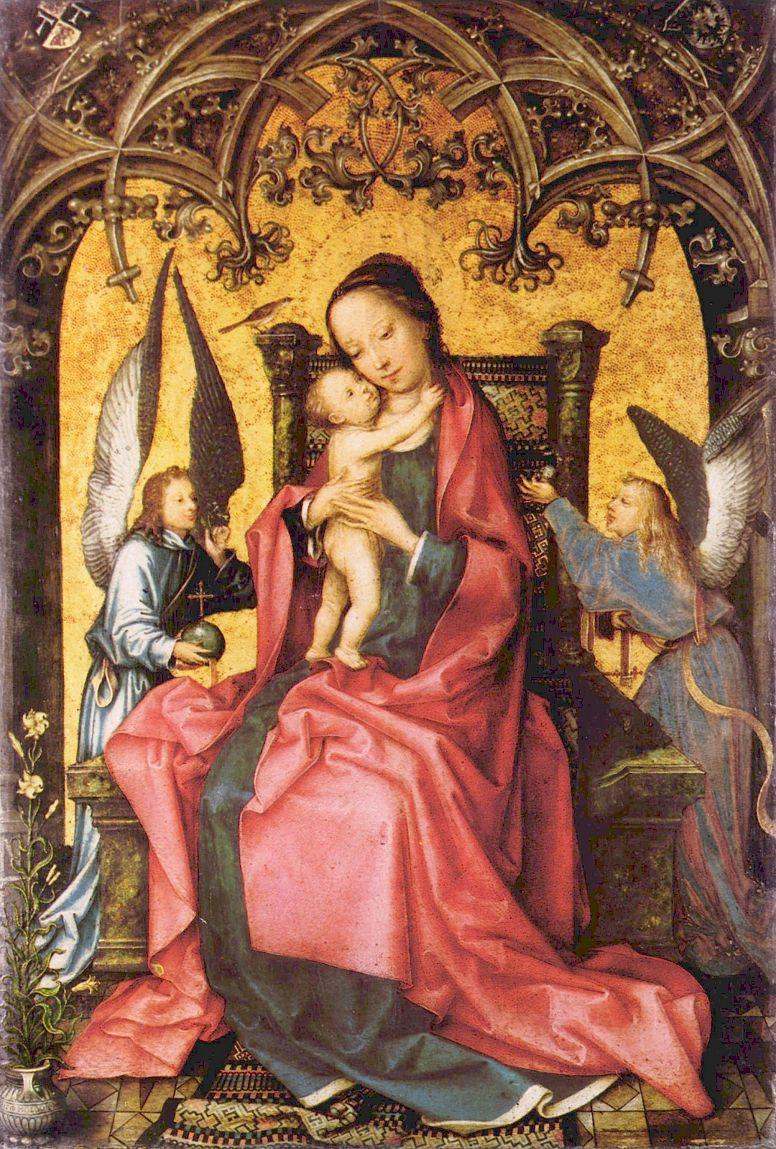 Ганс  Старший Хольбейн. Коронование Марии ангелами