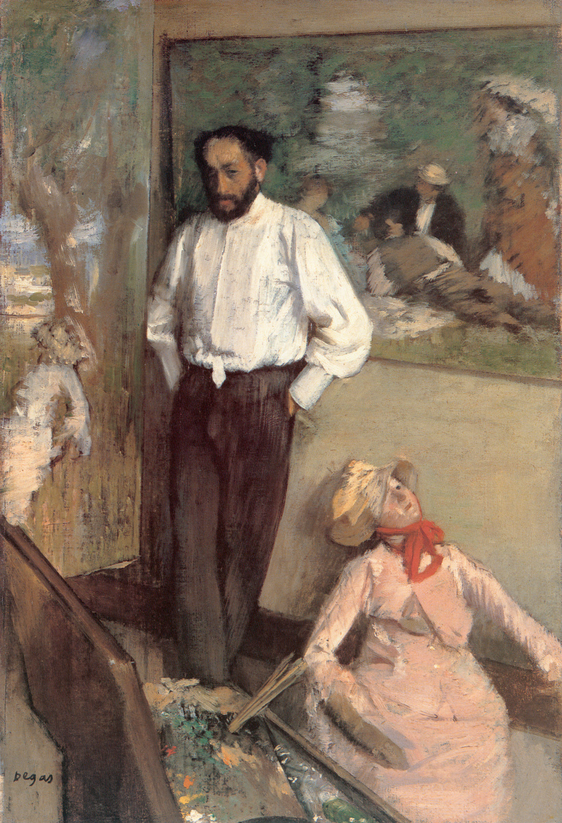 Эдгар Дега. Портрет художника Анри Мишеля Леви в мастерской