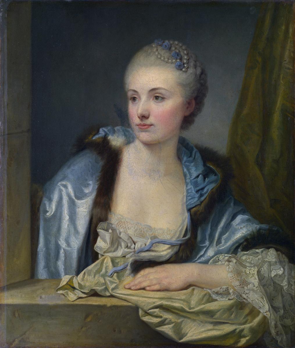 Неизвестные Французские. Портрет леди