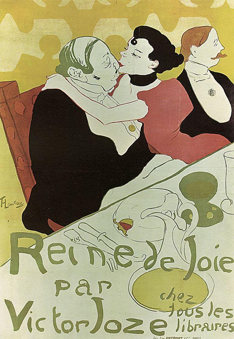 "Анри де Тулуз-Лотрек. Плакат книги ""Королева радости"" Виктора Жоза"