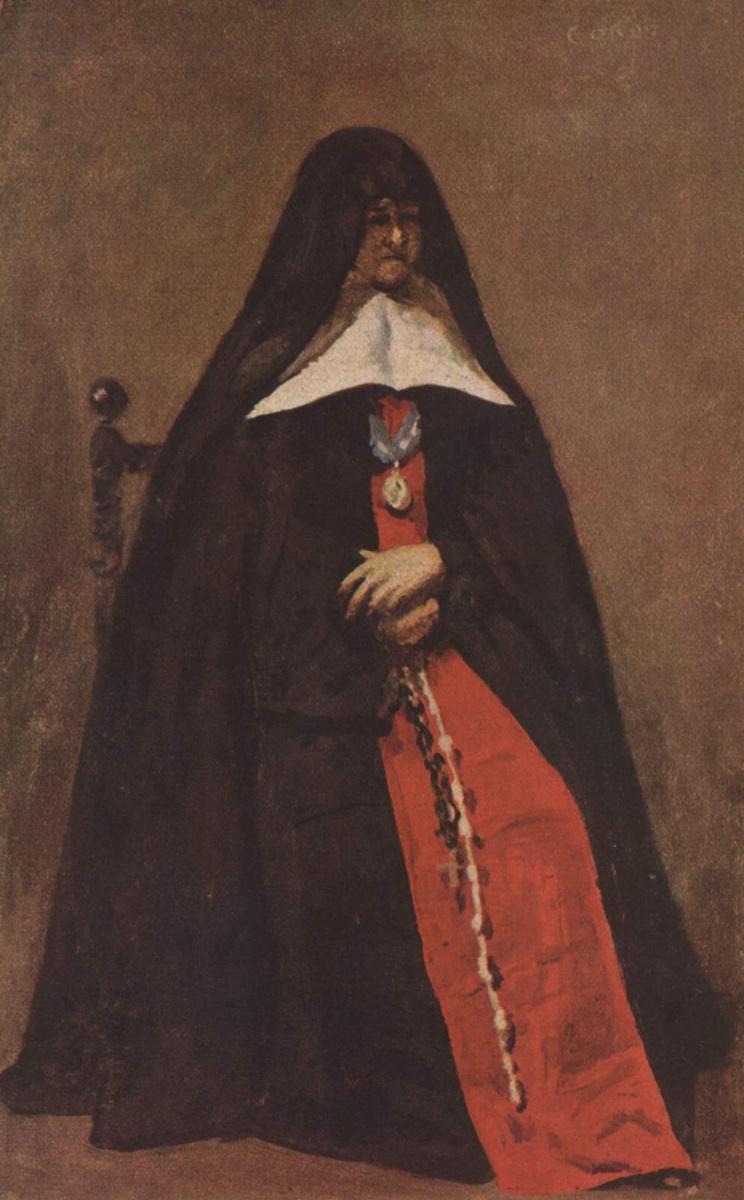 Камиль Коро. Портрет настоятельницы в монастыре Благовещения в Булонь-сюр-мер