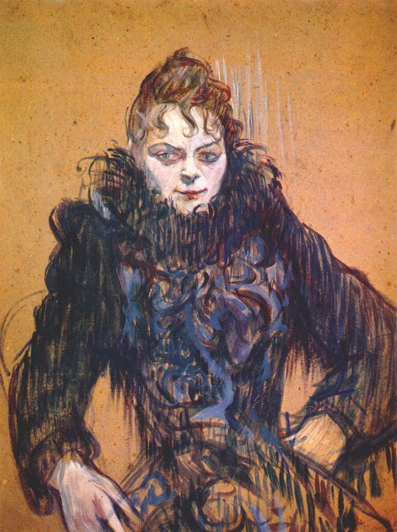 Анри де Тулуз-Лотрек. Женщина с черным боа