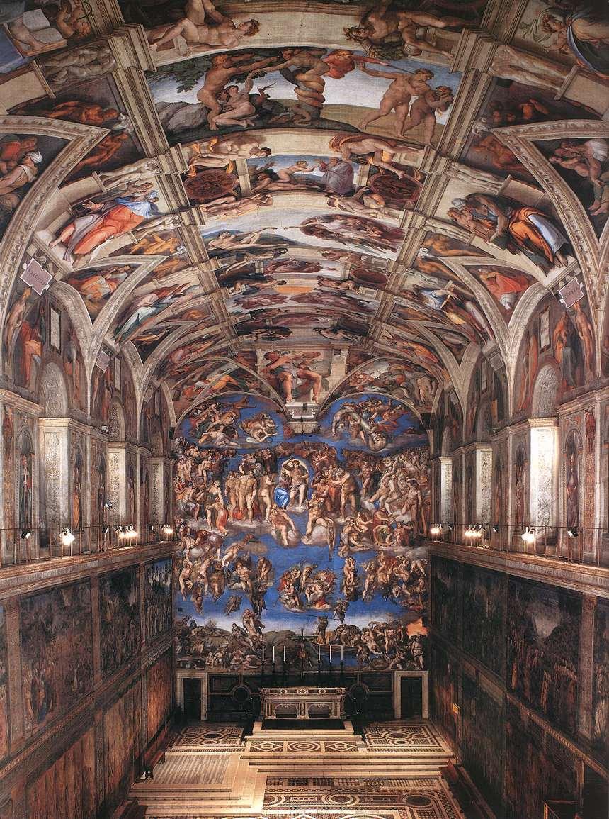 Микеланджело Буонарроти. Сикстинская капелла.