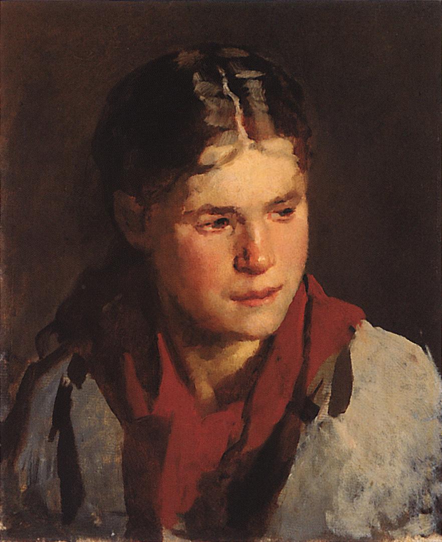 Nikolai Vasilyevich Nevrev. Portrait of a girl. 1890s Etude