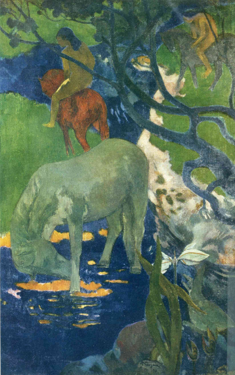 Поль Гоген. Белая лошадь