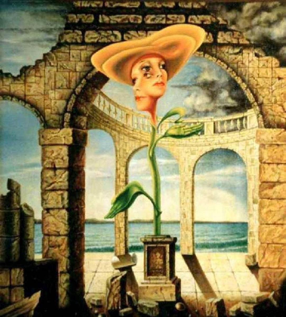Vladimir Vasilyevich Abaimov. Madonna in an Orange Hat in the Architecture of Manyasco