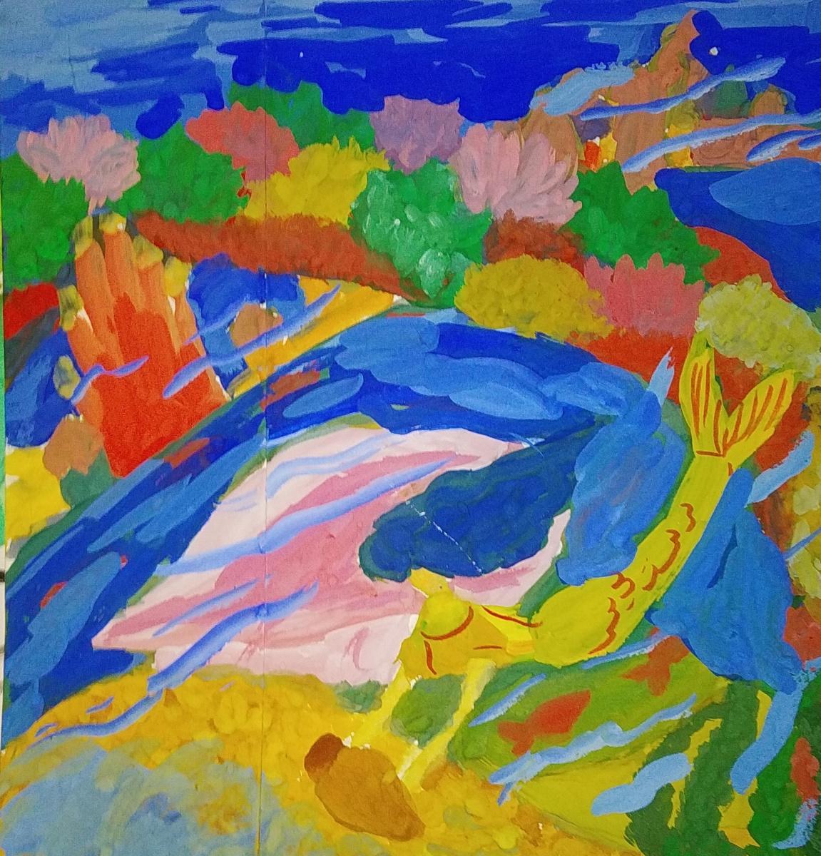 """Zina Vladimirovna Parisva. Sketch for the work """"Sea Kingdom"""""""