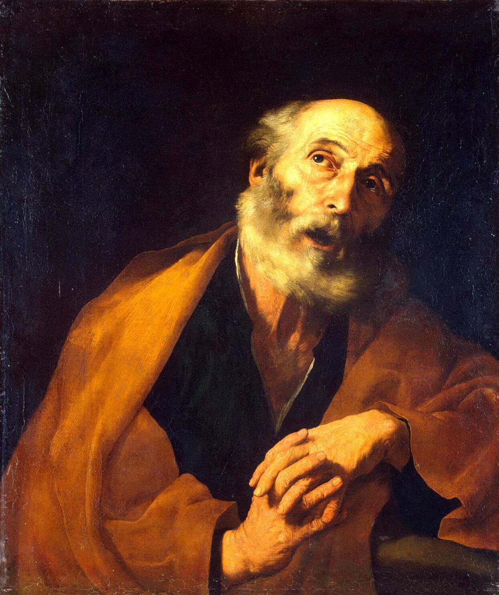 Хосе де Рибера. Раскаяние Святого Петра