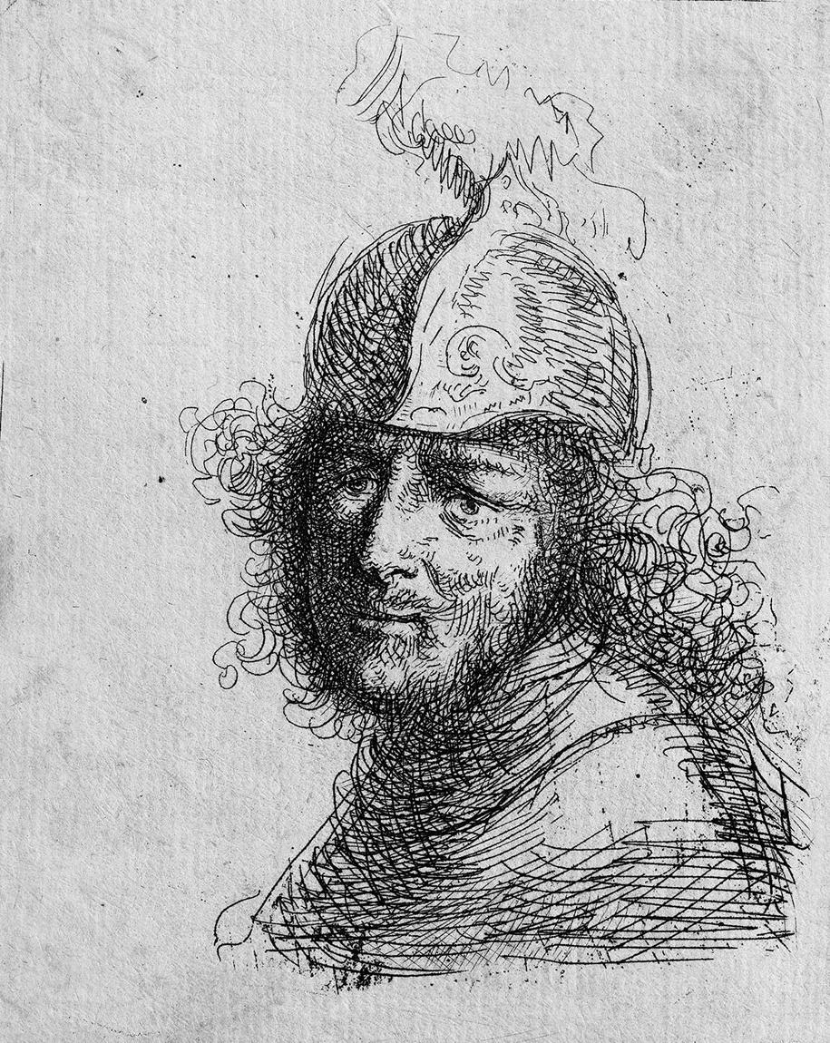 Ян Ливенс. Портрет солдата в шлеме